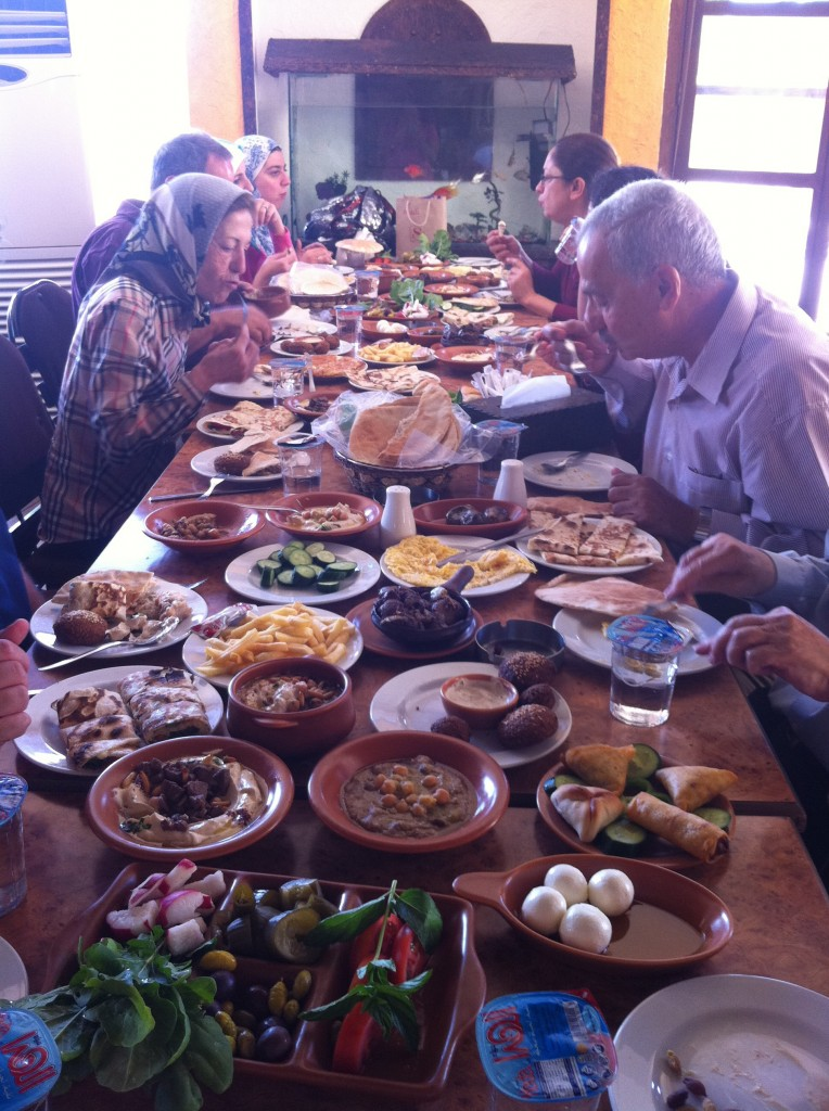 Arafat Family Breaking fast at Tarweea Restaurant. Amman.