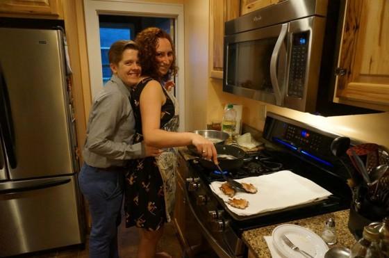 angie bothering emma while she cooks latkes (2)