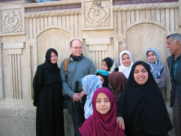 Jen and Adam Baghdad 2004