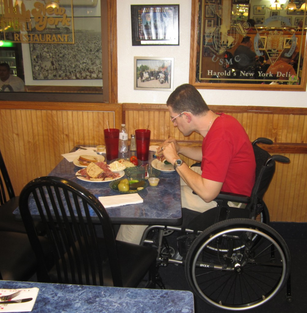 Dining Out In A Wheelchair